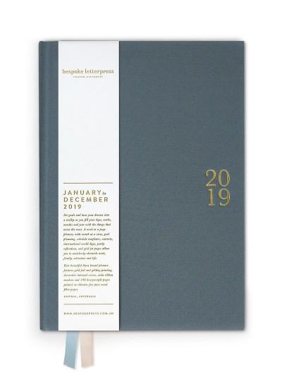 2019 Linen Bound Planner - Bespoke Letterpress