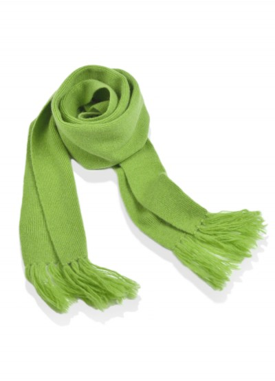Cashmere junior scarf - sprout green