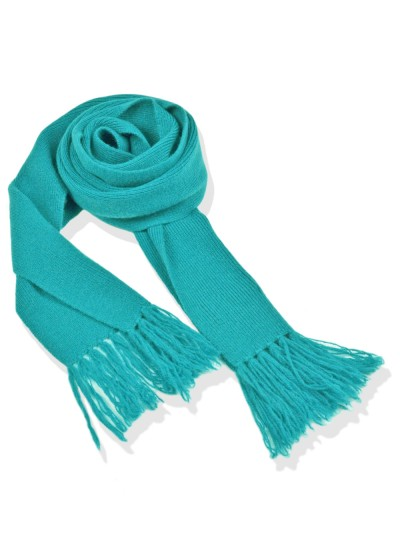 Cashmere junior scarf - teal