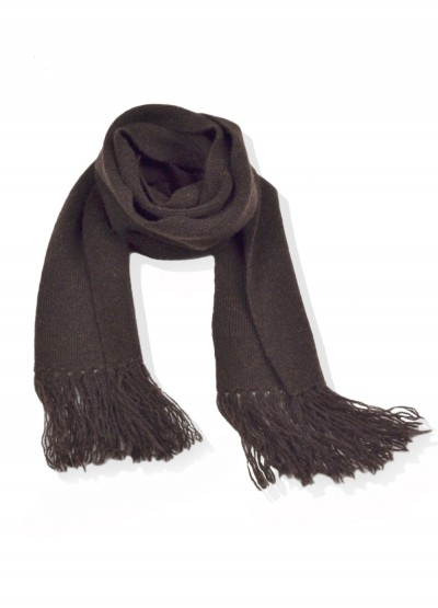 Cashmere junior scarf - chocolate