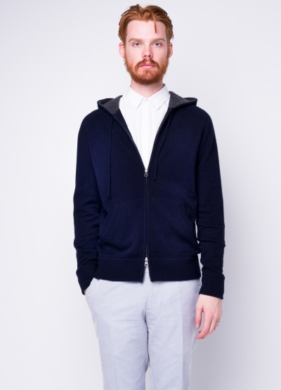 Cashmere hoodie cardigan