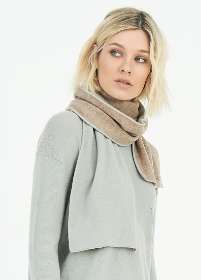 Cashmere dual tone double layer scarf