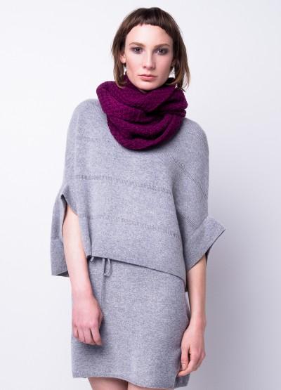 Chunky burgundy infinity scarf