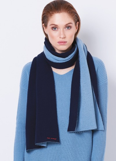 Love always oversized double layer scarf - Navy