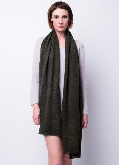 Back in stock - Cashmere scarf shawl in one - Moss green