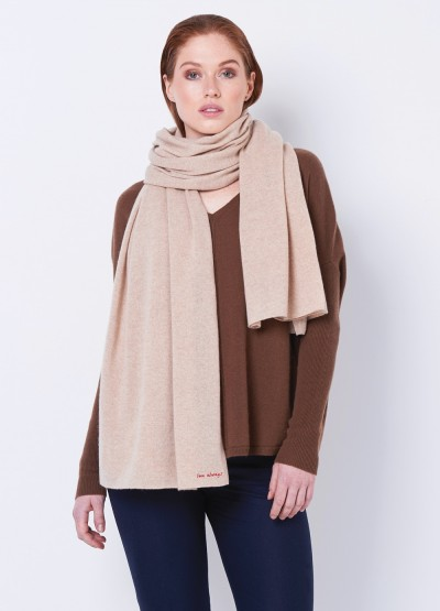 Love always oversized travel wrap - Light camel