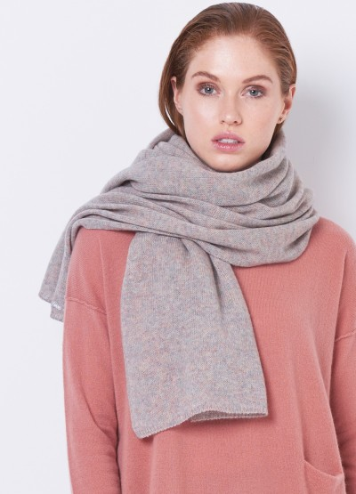 Oversized cashmere merino scarf - Speckled