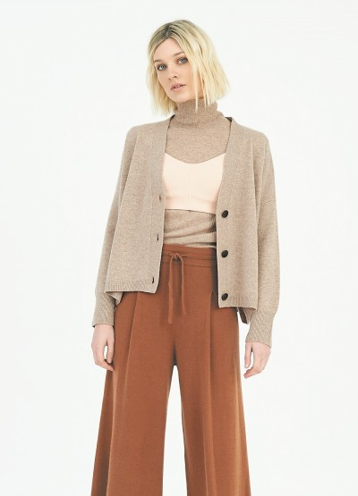 Timeless cropped cardigan - Wheat