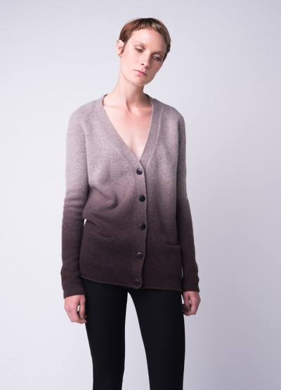 Cashmere blend ombre cardigan