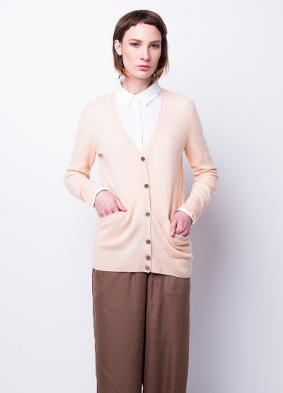 Take me anywhere cashmere cardigan in nude - 20% Off