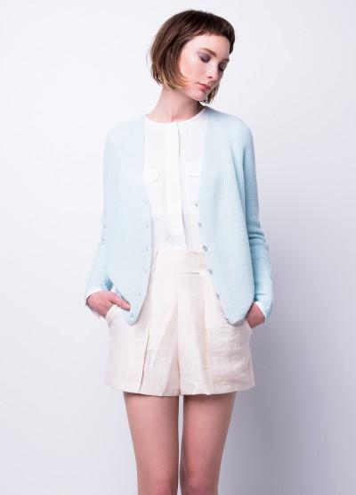 Rib-knit cloud cardigan