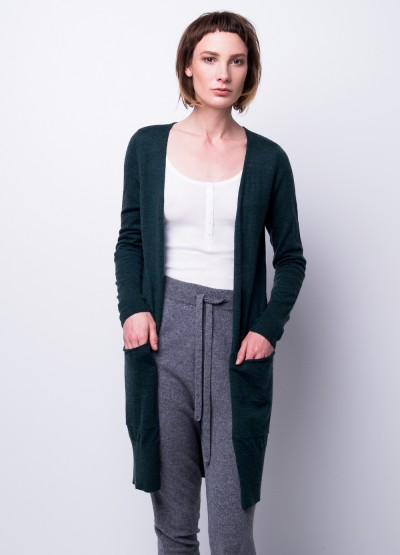 Cashmere breeze long cardi - forest green
