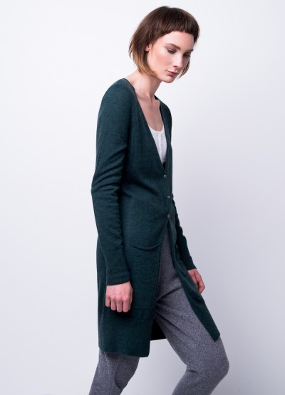 Cashmere breeze long cardi - forest green - 10% Off