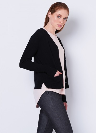 Butterfly every day short cardi - black