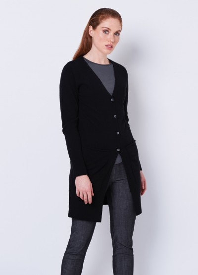 Butterfly every day long cardi - black