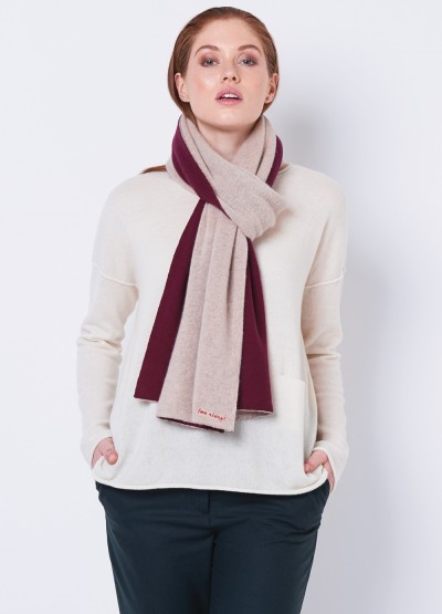 Love always oversized double layer scarf - Bordeaux