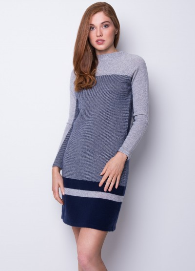 Dual tone cashmere icon dress