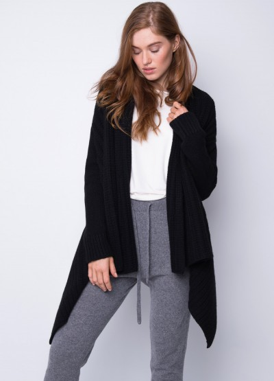 Chunky knit long drape cardigan - 31% Off