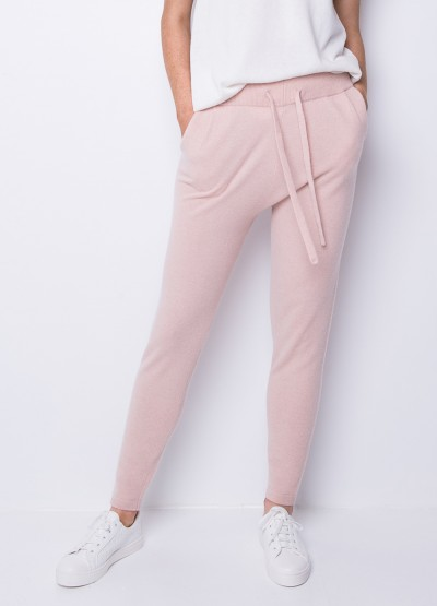 Be spoiled cashmere draw string pants in blush