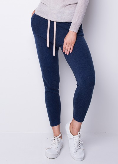 Be spoiled cashmere draw string pants in denim blue