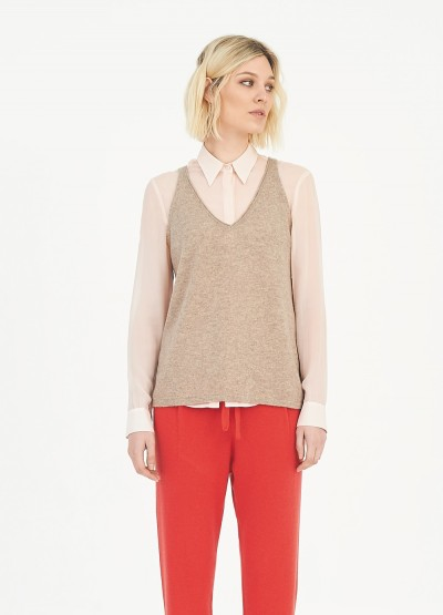 Feather-light cashmere tank top