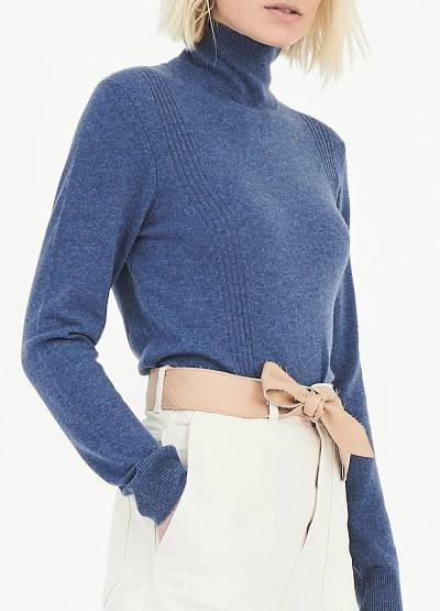 Smitten super fine turtle neck pullover - Light denim blue