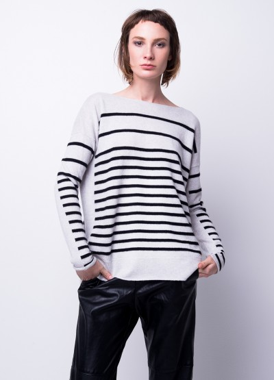 Timeless stripe relax fit pullover - 30% Off