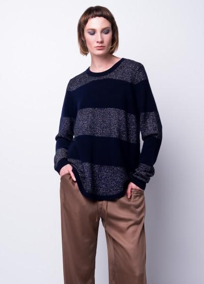 Metallic glamour cashmere pullover