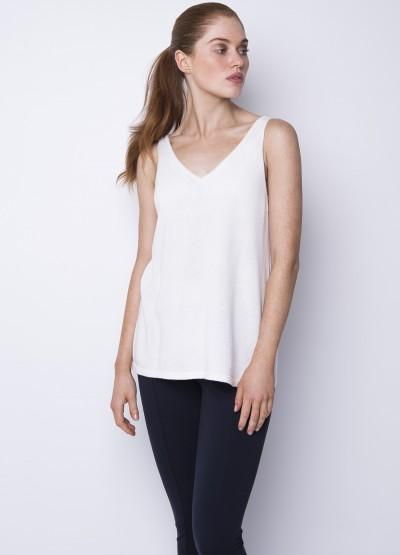 Cotton Cashmere tank White - 40% off