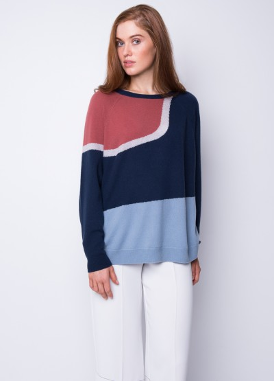 Sunset island intarsia pullover - 30% Off