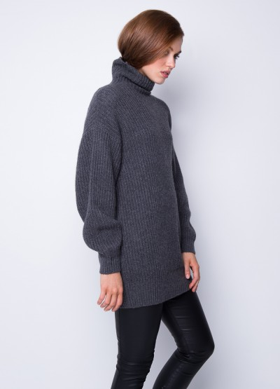 Chunky high neck dress pullover