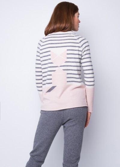 Tangram kitten stripe pullover - 40% Off