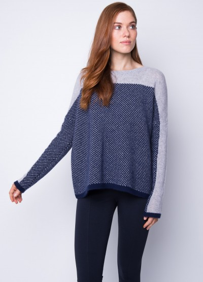 Sesame knit loose fit pullover
