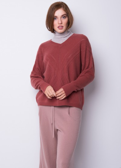 Pointelle knit loose fit pullover