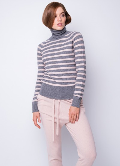 Timeless stripe turtleneck pullover - 30% Off