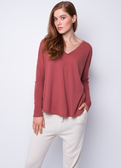 Batwing loose fit pullover pepper powder