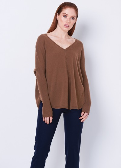 Batwing loose fit pullover Tan