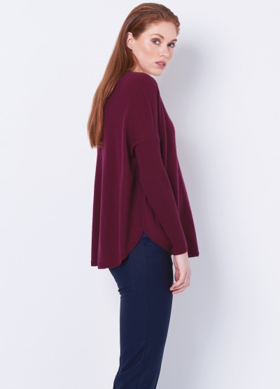 Batwing loose fit pullover - Bordeaux