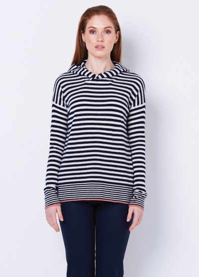 Love always Stripe hoodie pullover