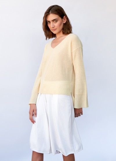 Sorrento bell sleeve cashmere top