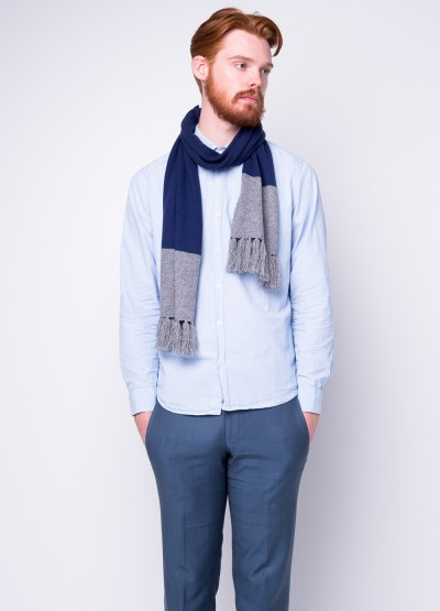 2 tone weekender tassel scarf