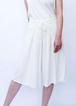 Cotton cashmere summer pants - white