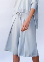 Cotton cashmere summer pants - Ice blue