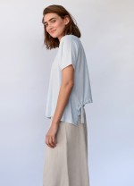 Summer whisper tie-back top - Washed blue